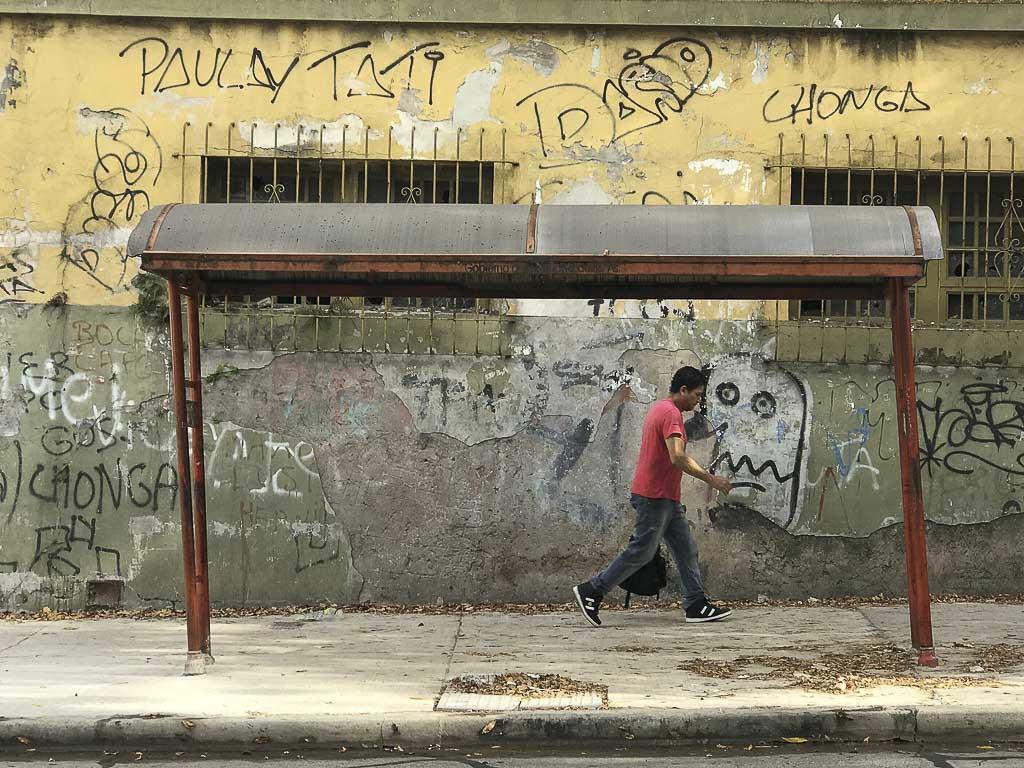 Fotografía Bus Stop Exposición Gente Corriente